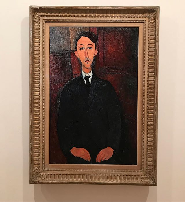 When you stand in front of your favourite artist's work... #amedeomodigliani #ngv #portrait #oiloncanvas #emotionvslikeneaa #greatartist #20century