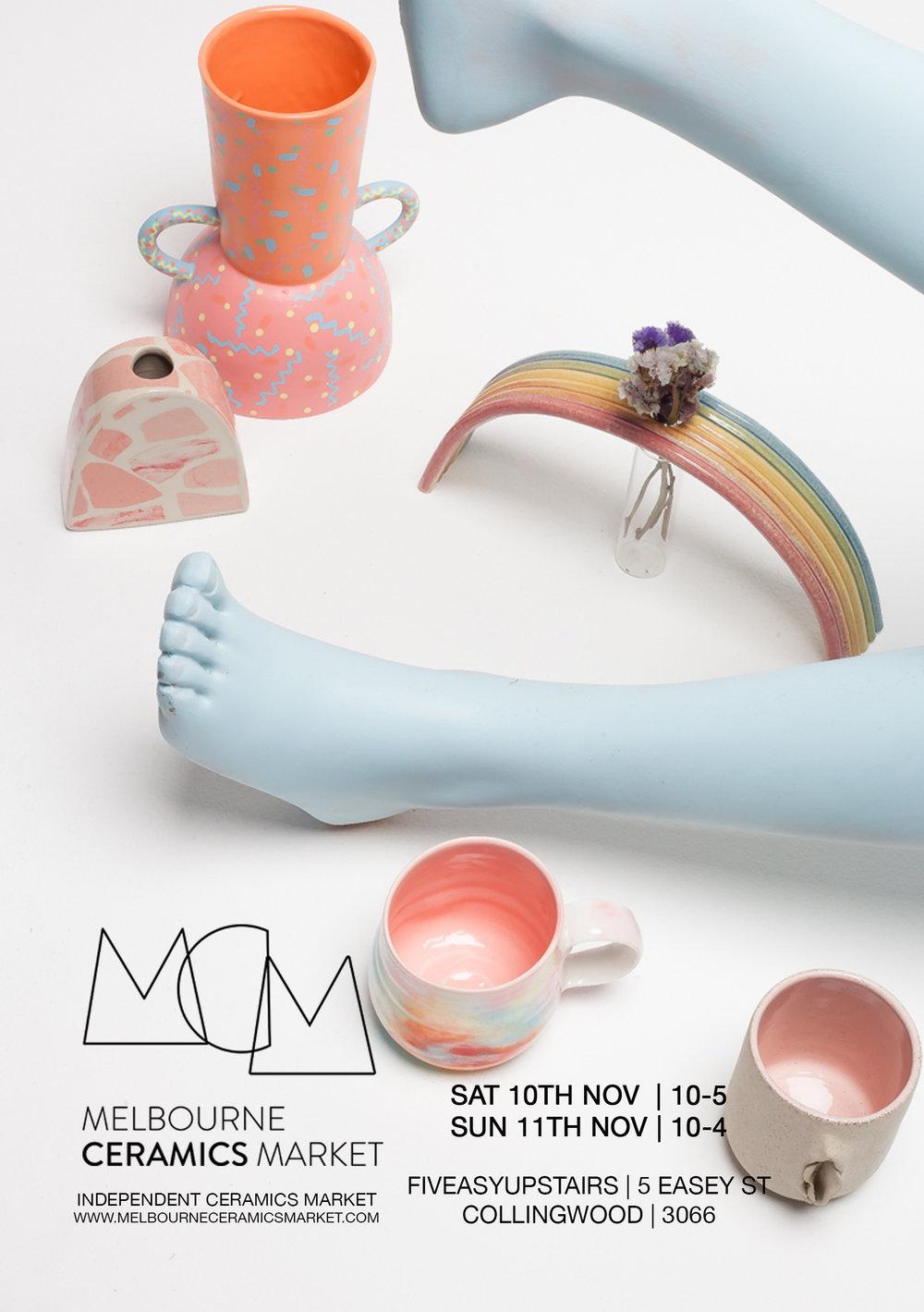 Melbourne Ceramics Market Leaflet