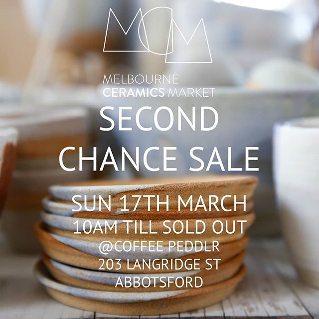 I will be selling some of our sample and seconds at @melbourneceramicsmarket annual Second Chance Sale in 2 weeks! 10% of the total sales will go a local Melbourne based charity @rmcc_au 🙂 The Refugee Migrant Children's Centre does amazing work in supporting children arriving into Australia, helping them integrate into school life and find their voice within the community 🌼  Head down to @coffeepeddlr - 203 Langridge St in Abbotsford on SUNDAY 17Th March. Sale starts at 10am till 3pm (or sold out prior) I highly suggest arriving early to grab the goodies as from last year's experience, there will be a huge crowd and the lovely ceramic pieces will fly off the shelves in a blink! 😉I will be there on the day, so don't forget to come and say hi!🙋🏻