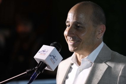 Brian Cashman Speaking at the New York Sports Tours Launch