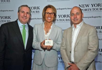 Jordan Sprechman, Mary Carillo, and Brian Cashman