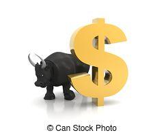 Bull-with-gold-dollar-baseball-bullpen-bull-animal-horizontal-no-people-photography-clip-art_csp61057723
