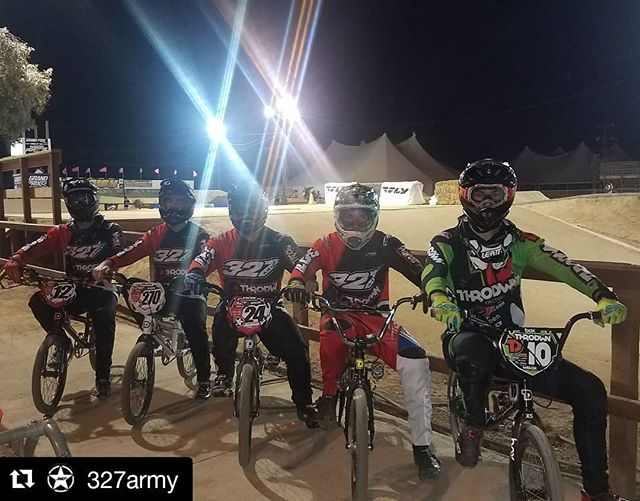 The @327army was in full swing out at @grandprixbmx with @throdwn's @jessetwelch! #327army -- #bmx #bmxracing #vinyl #usabmx #designs #racing #bikes #illustrator #graphicdesign #custom #graphicdesigner #designinspiration #creativity #designer #illustrator #photoshop #adobe #marketing #business #branding