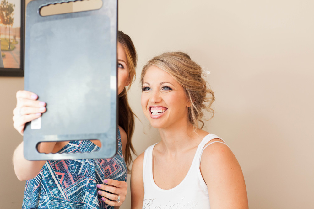 EVERY bride should have this expression when these see their makeup for the first time. Tabetha is a rock star makeup artist!!