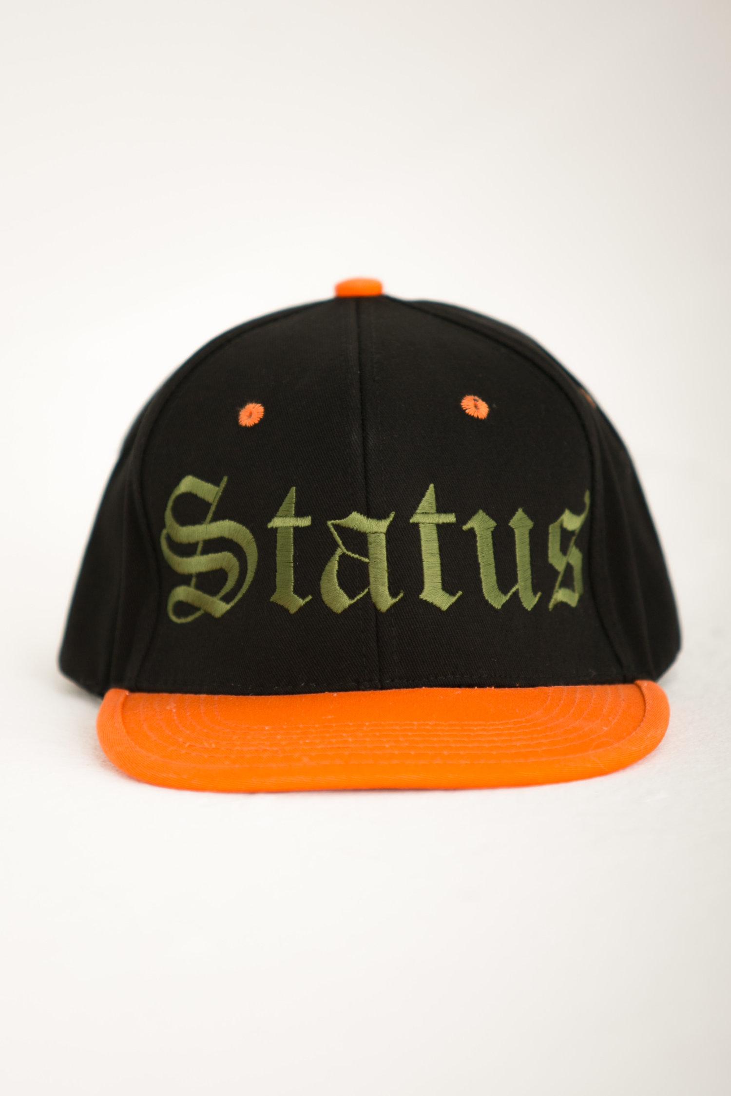 9df66d55243ec1 Status Snapback - Army Green & Orange — Status Industry