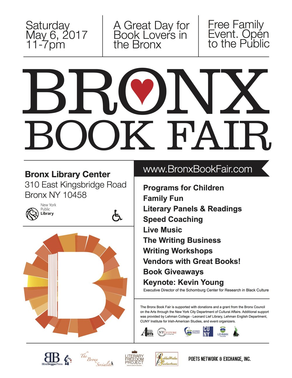 Bronx Book Fair - May 6, 2017 - 10am || Bronx Library CenterZine Publishing and Beyond -Learn different ways of self-publishing, and walk away with ideas on how to create, print, and distribute your own publication. Faciliators: Margot Terc, Ana Maria Hoffman, and Tammy Lopez.