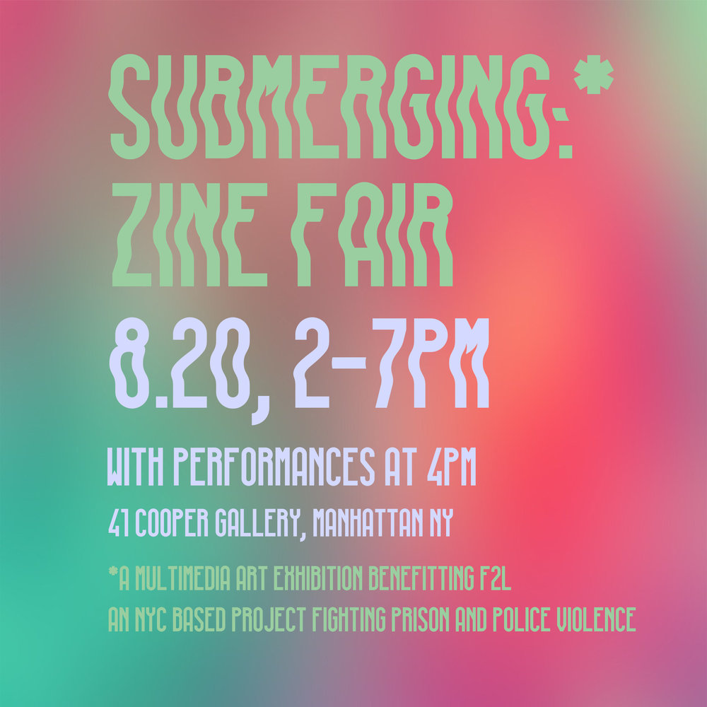 Submerging - August 20, 2016 - 2pm || Cooper GalleryRole: Vendor