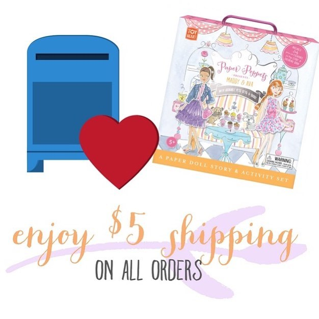 We can make $5 go a loooong way! It only takes $5 to get your Paper Poppets from HQ to you 😀