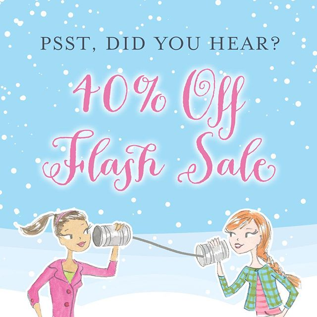 Did someone say FLASH SALE? Yes, get 40% off your Paper Poppets - TODAY ONLY! Did you get your daughter, goddaughter, niece, and granddaughter their Christmas present yet? Avoid the lines and shop right at your fingertips 💻🎁