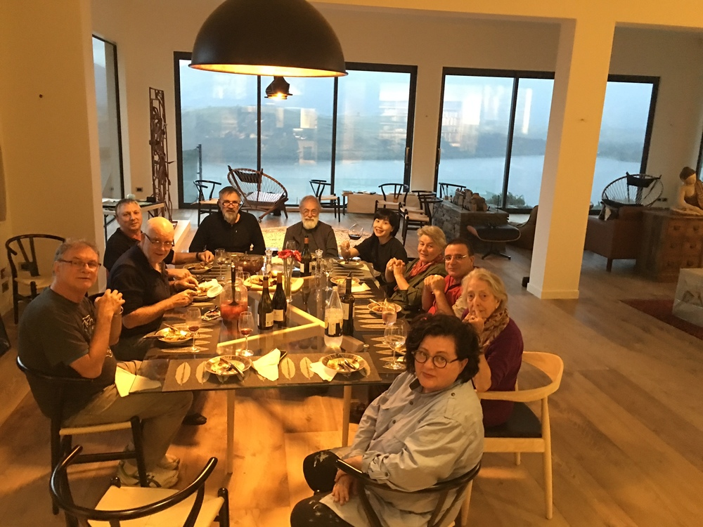 Artists' dinner during the residency