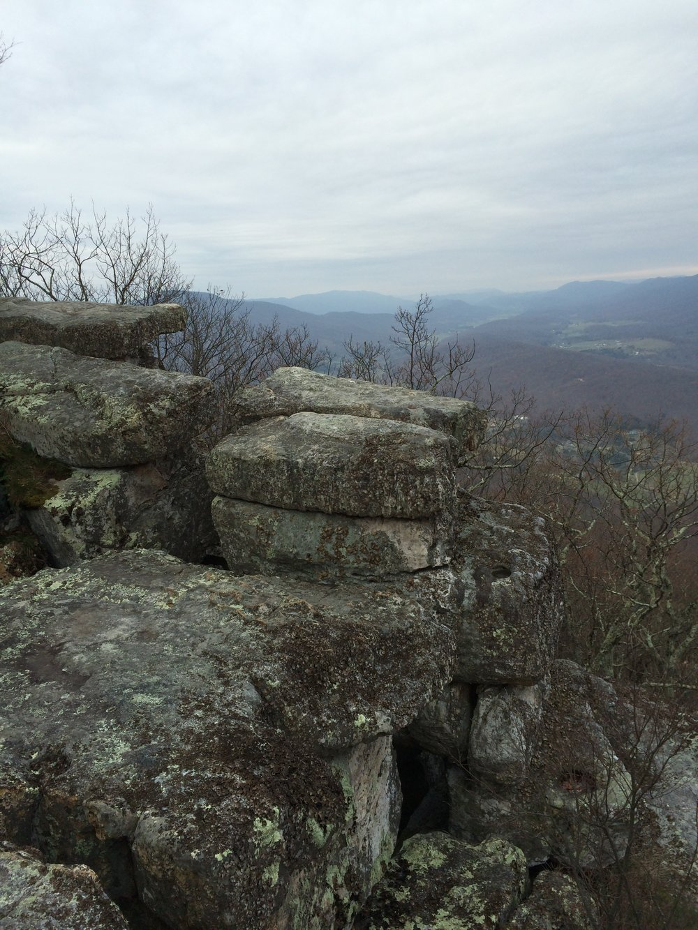 Tinker Cliffs on a gray day.  Image by Jeff Edwards