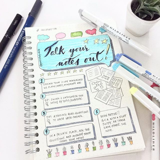 #100studytips TALK YOUR NOTES OUT When you see people studying they're normally fairly quiet if not sleeping😌This study method may sound a bit odd at first, but it's a very valuable study hack. Just posted a blog post about how and why it works. Check it out on the link in bio ☝️And I'm back to the muji spiral notebook for the study hacks. Thanks for the feedback !! And happy Monday and happy April 😊✨