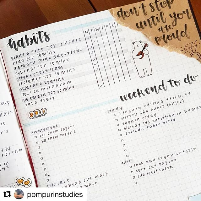 This is seriously the best #studybujo I've seen in ages !! OMG nothing is left out. Love it. Check it out 😳 Thank you Bec for sharing your gorgeous pages with us !! @pompurinstudies