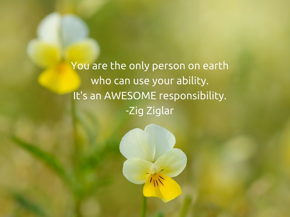 You are the only person on earth who can use your ability.It's an AWESOME responsibility.-Zig Ziglar.jpg