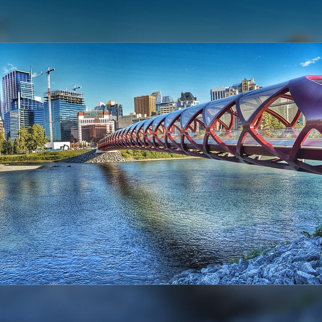 peace bridge, calgary ab