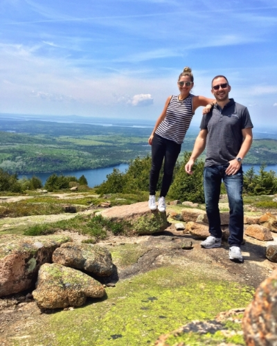 The top of Cadillac Mountain