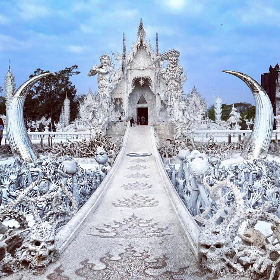 Wat Rong Khun aka the White Temple in Chiang Rai, Thailand