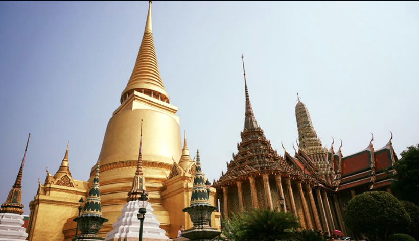 Wat Phra Kaew or the Temple of the Emerald Buddha in Bangkok, Thailand