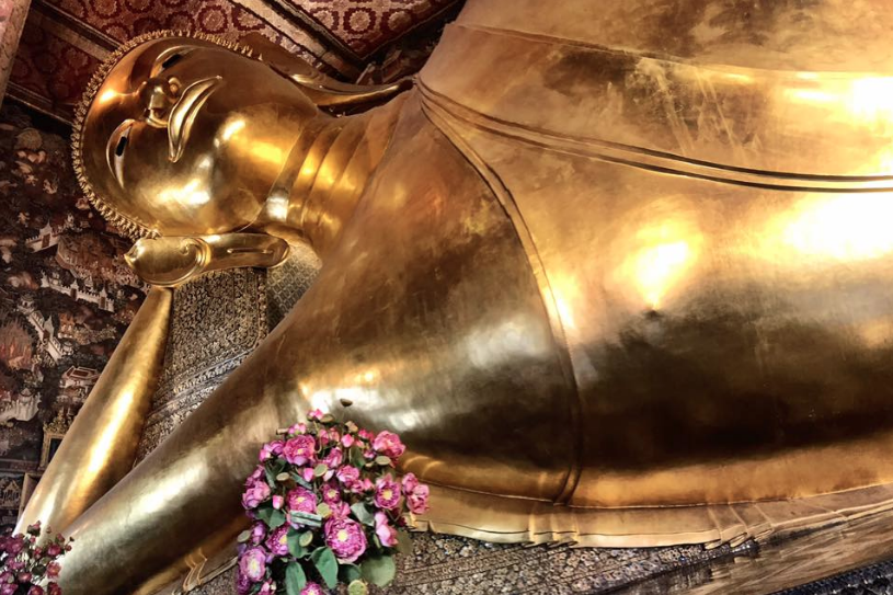 Wat Pho aka the Temple of the Reclining Buddha in Bangkok, Thailand