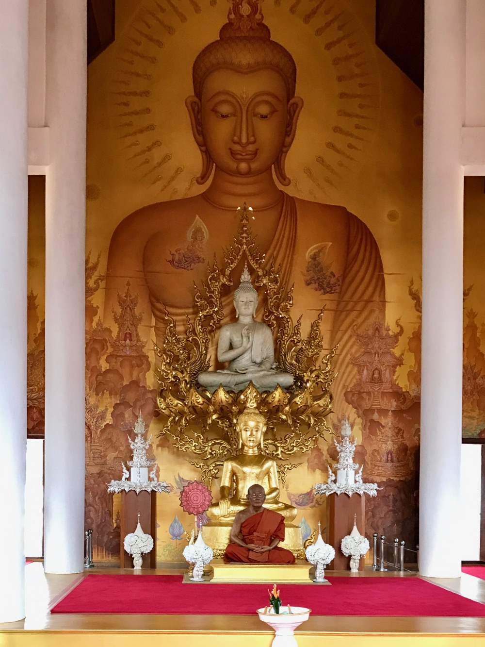 Inside  Wat Rong Khun - The White Temple in Chiang Rai