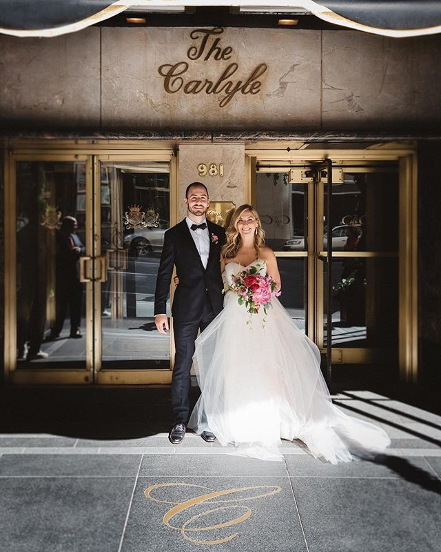 What a great day. 📷:@parkeryoung . . . . . #tbt #wedding #thecarlyle #newyork #theknot #weddings #hotels #love #weddingday #marriage #nycwedding