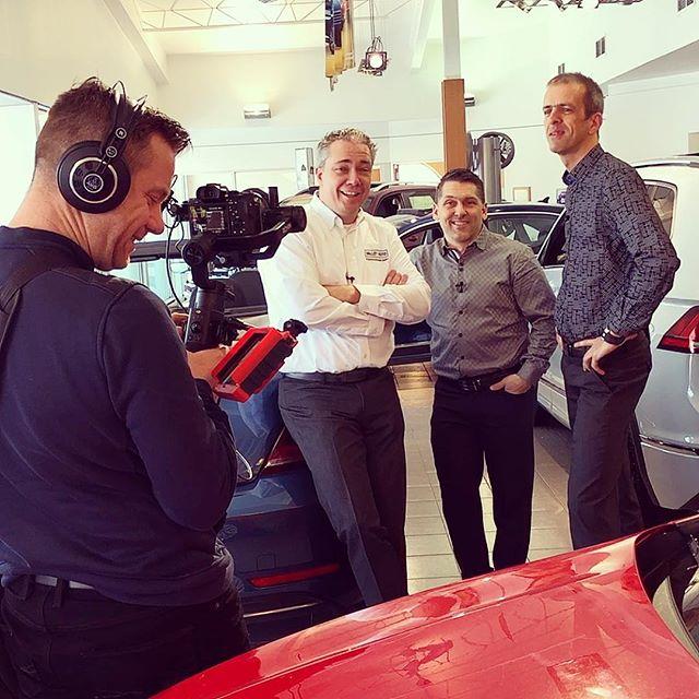 En mode tournage avec notre client Vallée Auto Volkswagen #grosfun #celebrations #video #journalisme #voiture #volkswagen