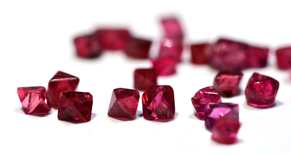 Red Spinels Uncut