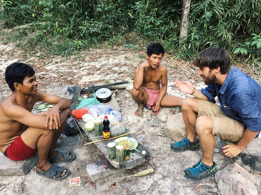Bamboo soup in Virachey National Park, Cambodia.