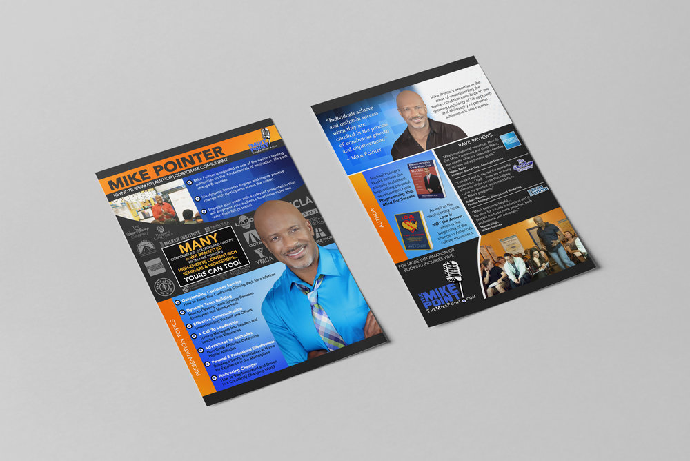Speaker One-Sheet (Graphics + Layout + Design)