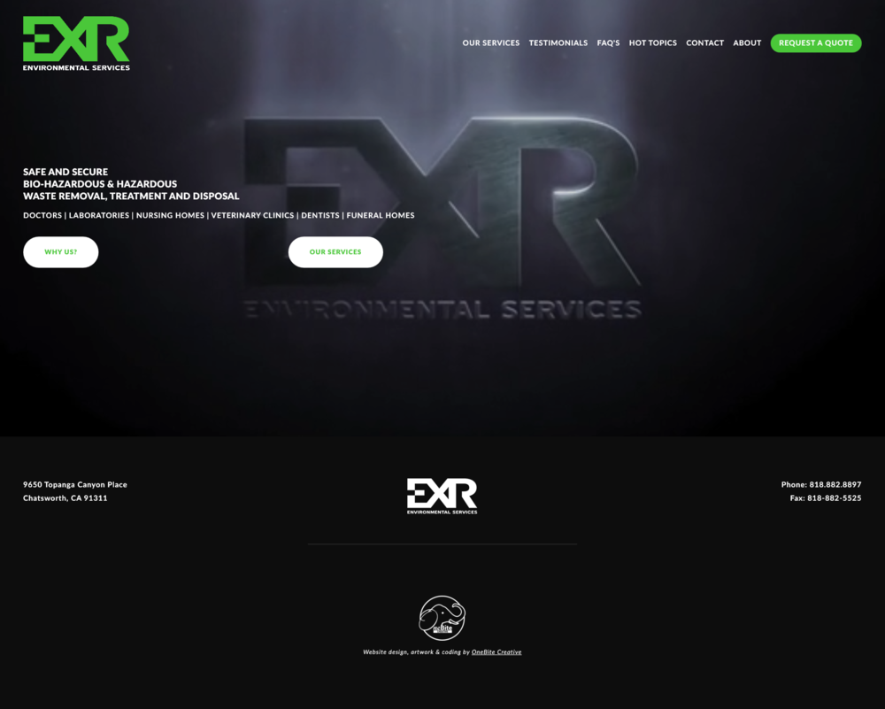 THE NEW EXR WEBSITE