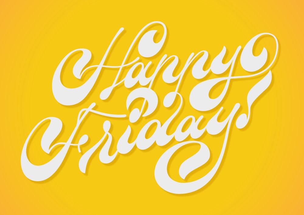 happy friday lettering_caseyschuurman