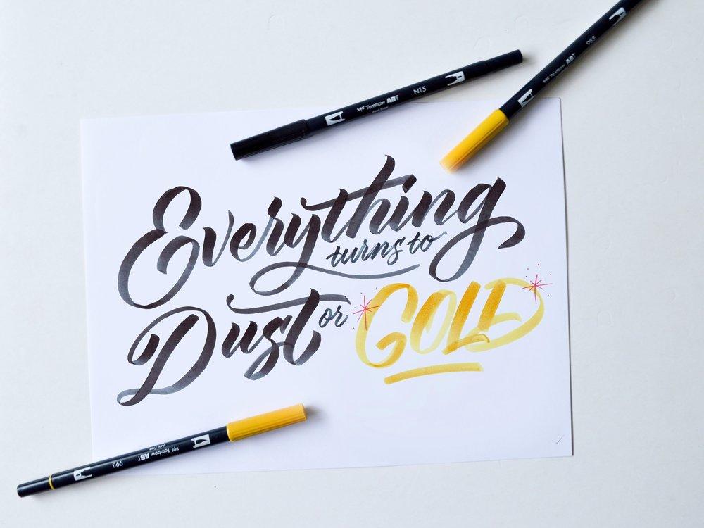 CaseySchuurman_BrushLettering_dust or gold.jpg