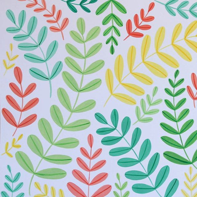 My mind is filling up with so many ideas for this pattern, did someone say  wrapping paper, prints, mugs??? All the pastel leafy goodness. I NEED TO PAINT MORE!  #gouache #gouachepainting #illustrator #illustrator #artstudio #artist #pastelprincess #pastelcolors #plants #botanical #leafpattern #grow #smallbuisnessowner #smallbuisness #creativebuisness #creator #girlboss #girlbossuk #thisnortherngirlcan #leafy #paintalldayeveryday #studio #studiodays #slowandsimpledays