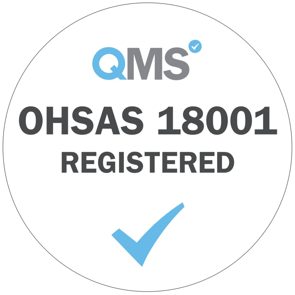 OHSAS 18001: 2007 – Health and Safety Management System.