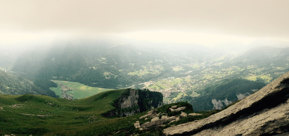 The view of the Giffre Valley as you approach Le Criou's summit