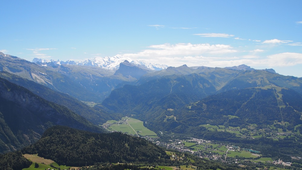 Views from La Bourgeoise, at the Col de Joux Plane