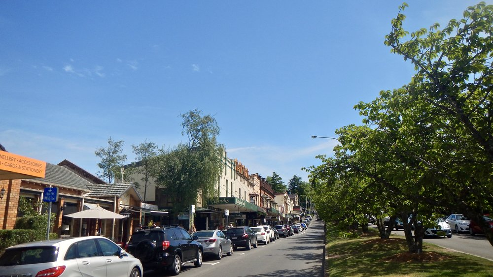 Leura high street, Blue Mountains, New South Wales