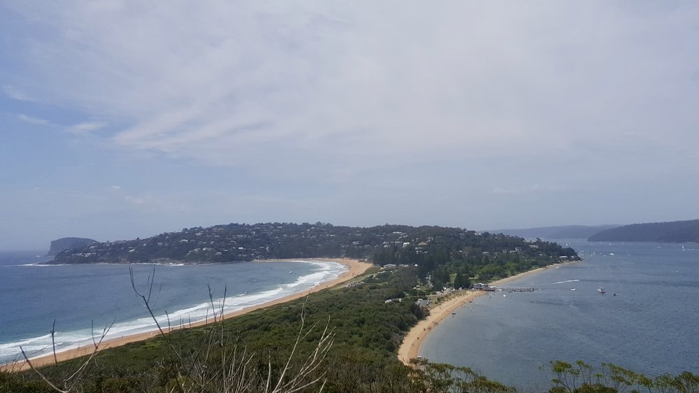 The view from the hike to Barrenjoey Lighthouse, Palm beach, Northern Beaches, Sydney, New South Wales, Australia