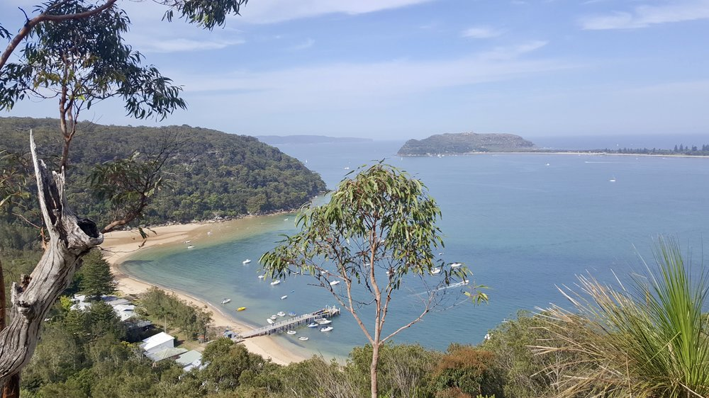 View from the Basin to Mackerel Walk, Ku-ring-gai Chase National Park, Sydney, New South Wales
