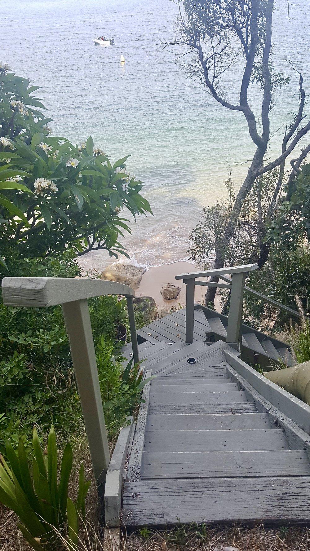 Steps at Great Mackerel Beach, Ku-ring-gai Chase National Park, Sydney, New South Wales