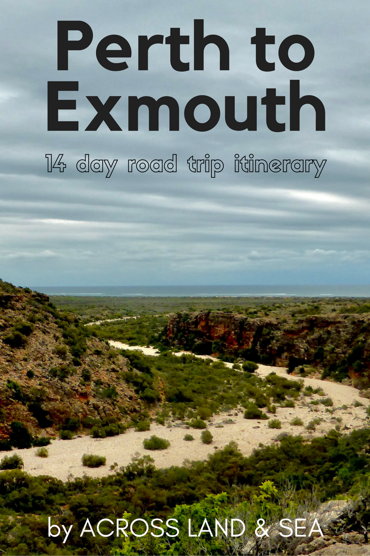 Perth to Exmouth itinerary