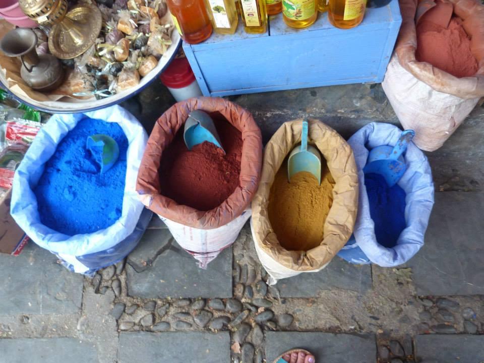 Spices, Marrakech medina, Morocco @acrosslandsea