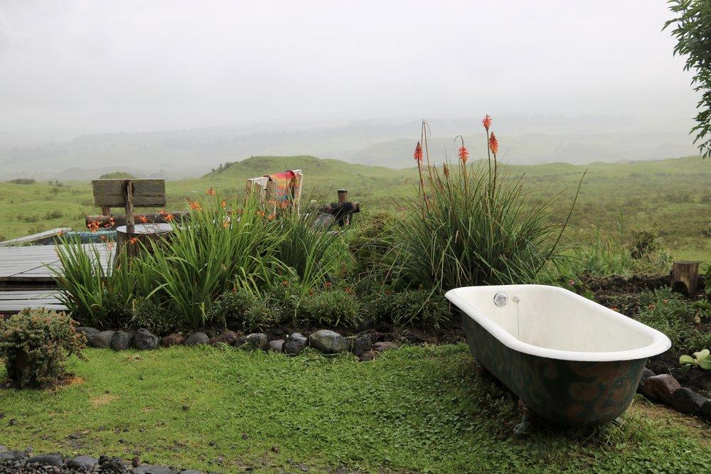 Bath tub, Secret Garden Cotopaxi, Ecuador @acrosslandsea