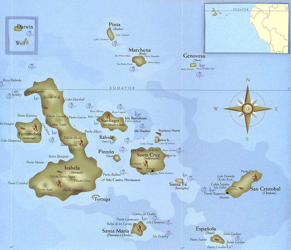 Map from   discovergalapagos.com
