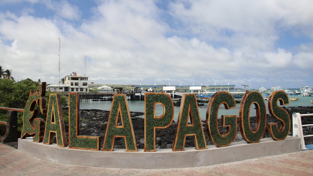 Galapagos Islands sign, Santa Cruz, @acrosslandsea
