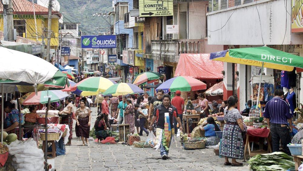 San Pedro La Laguna market, Lake Atitlan, Guatemala