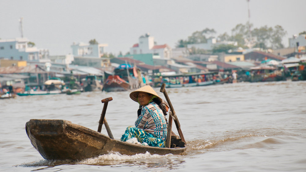 Can Tho floating market, Vietnam