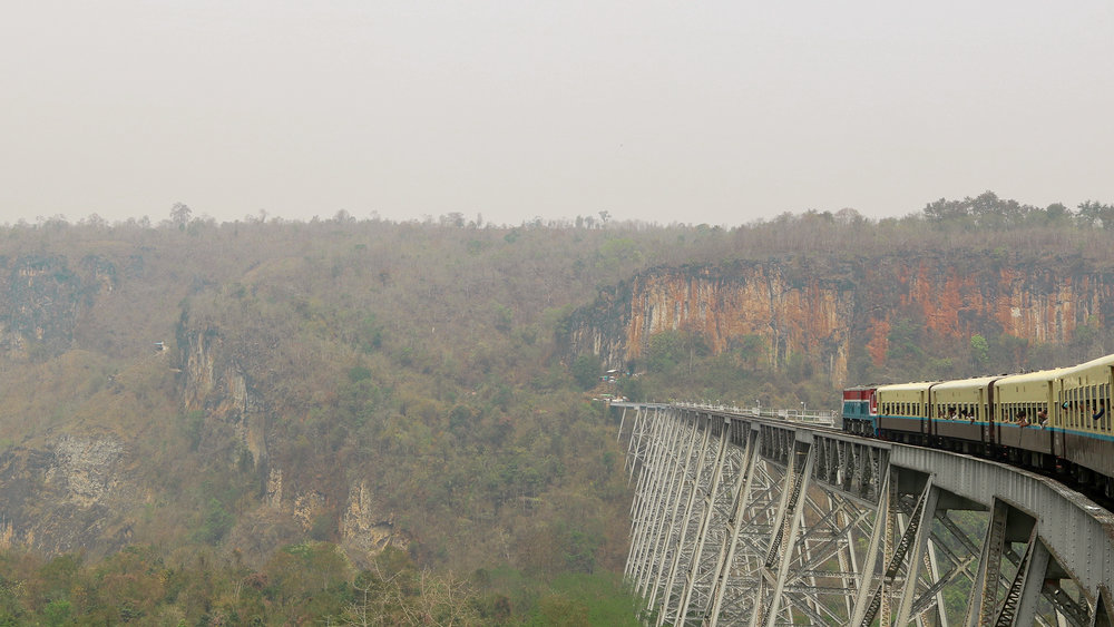 Goteik viaduct, train to Hsipaw, Myanmar