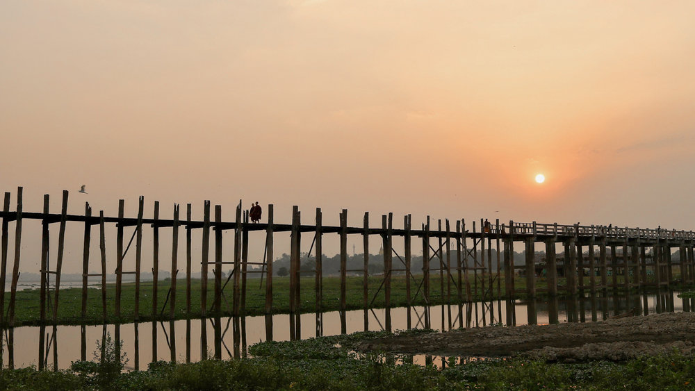 U Bein Bridge, Mandalay, Myanmar