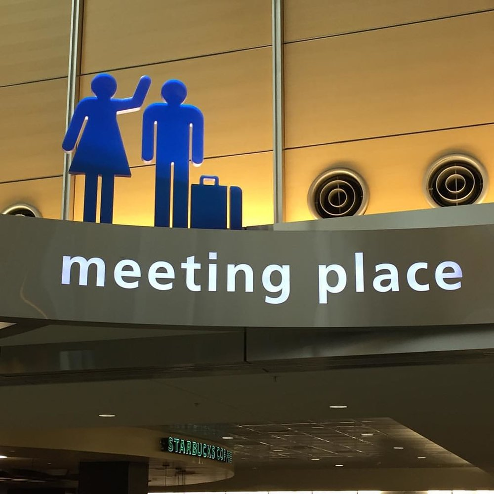 From the symbols, it seems like this is where women start yelling at men as soon as they arrive at the airport. #rdu (at Raleigh-Durham International Airport (RDU))